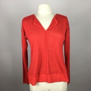 Sanctuary Mixed Media Woven Sweater Top M